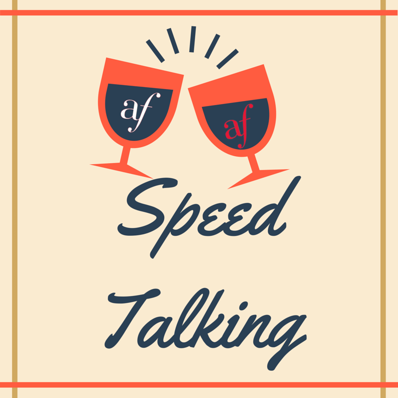 Speed talking - Wed 26 April - 12pm